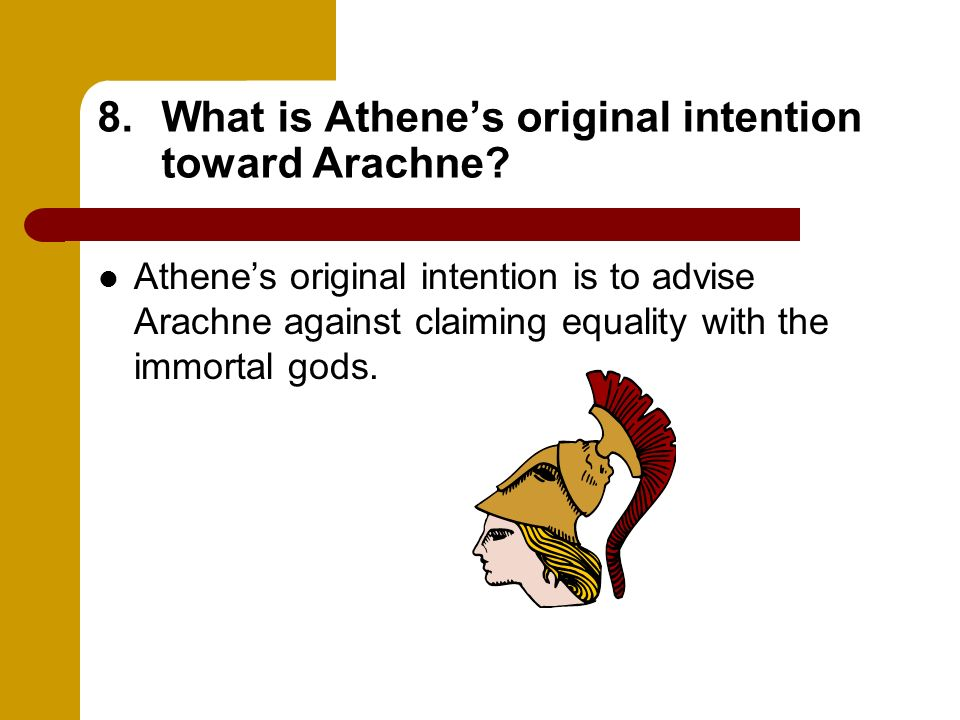 What is Athene's original intention toward Arachne