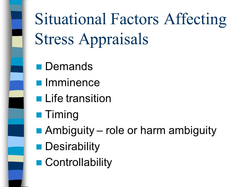 the common stressors and factors affecting Chapter 4 environmental risk factors and posed to environmental stressors these environmental factors can also affect the course of mental health prob.
