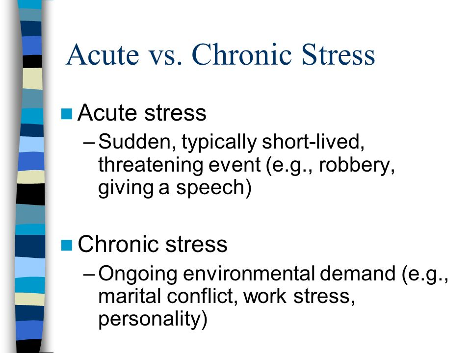 Environmental changes as causes of acute