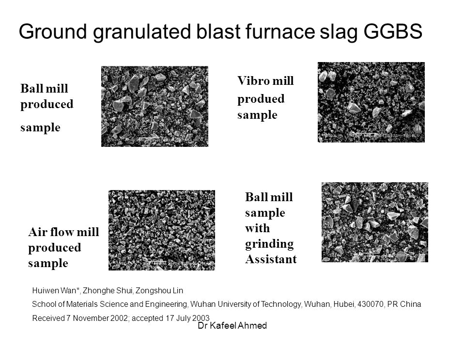 Ground Granulated Blast Furnace Slag : Construction application of the concrete ppt video