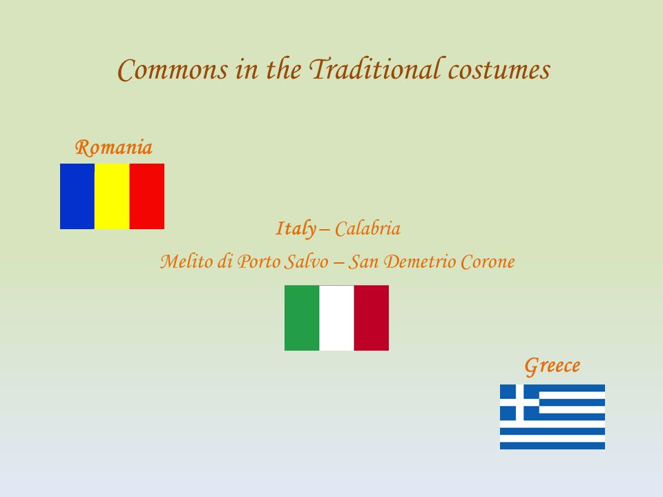 Commons in the Traditional costumes