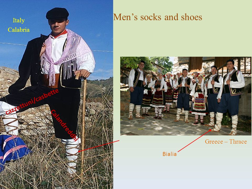 Men's socks and shoes cazzettuni/casbette Calandreddhi Italy Calabria
