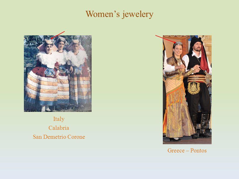 Women's jewelery Italy Calabria San Demetrio Corone Greece – Pontos