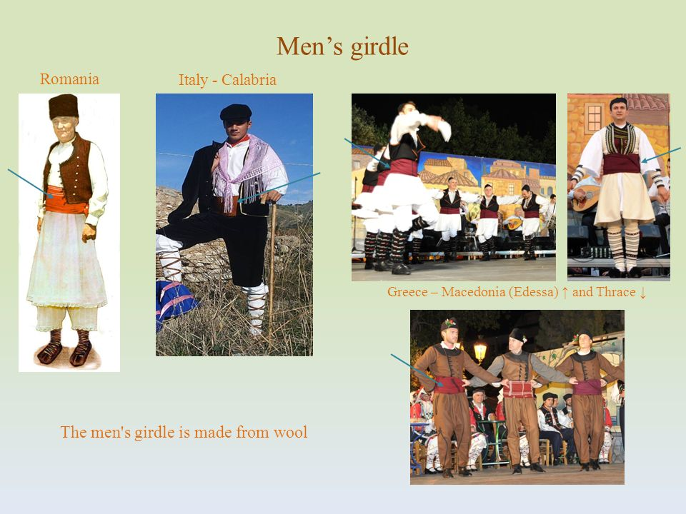 Men's girdle The men s girdle is made from wool Romania