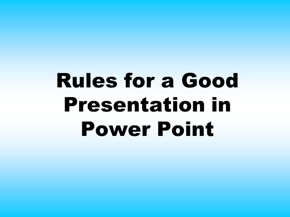 presentation rules
