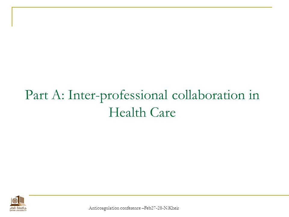 inter professional working and the needs of the patients Continuity of care and the patient experience research paper  working arrangements for clinical staff that include  so that patients know which professional.