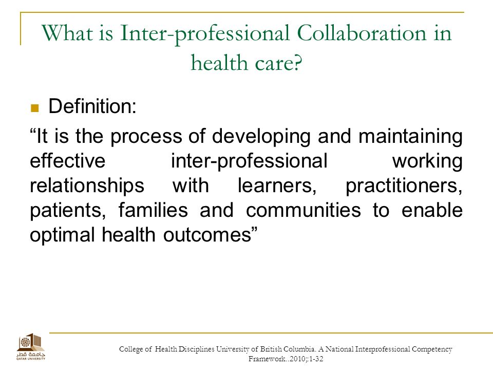Interprofessional collaboration: three best practice models of interprofessional education
