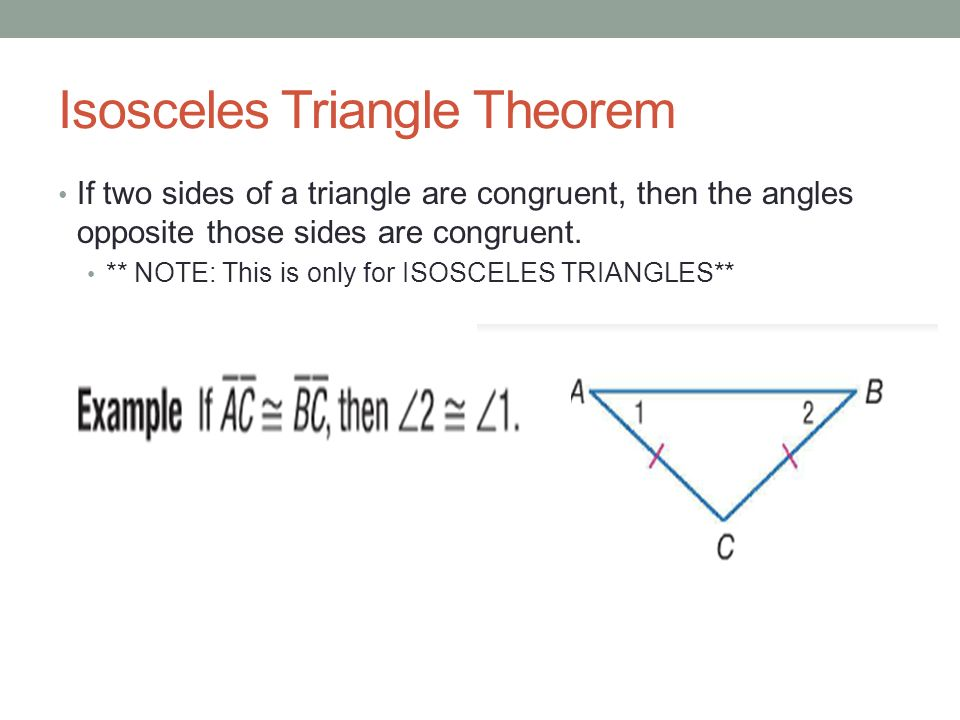 Chapter 4.6. Isosceles and Equilateral Triangles - ppt ...