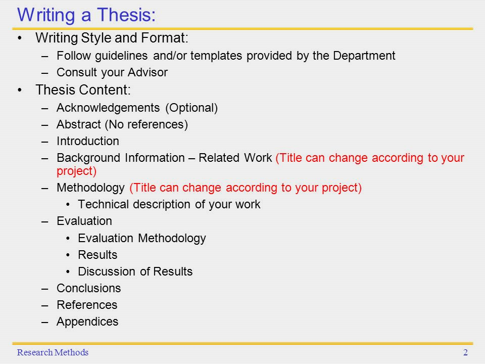 thesis writing related work Some guidelines for thesis contents and writing for writing the contents of your thesis the context and background of your thesis and discuss related work.