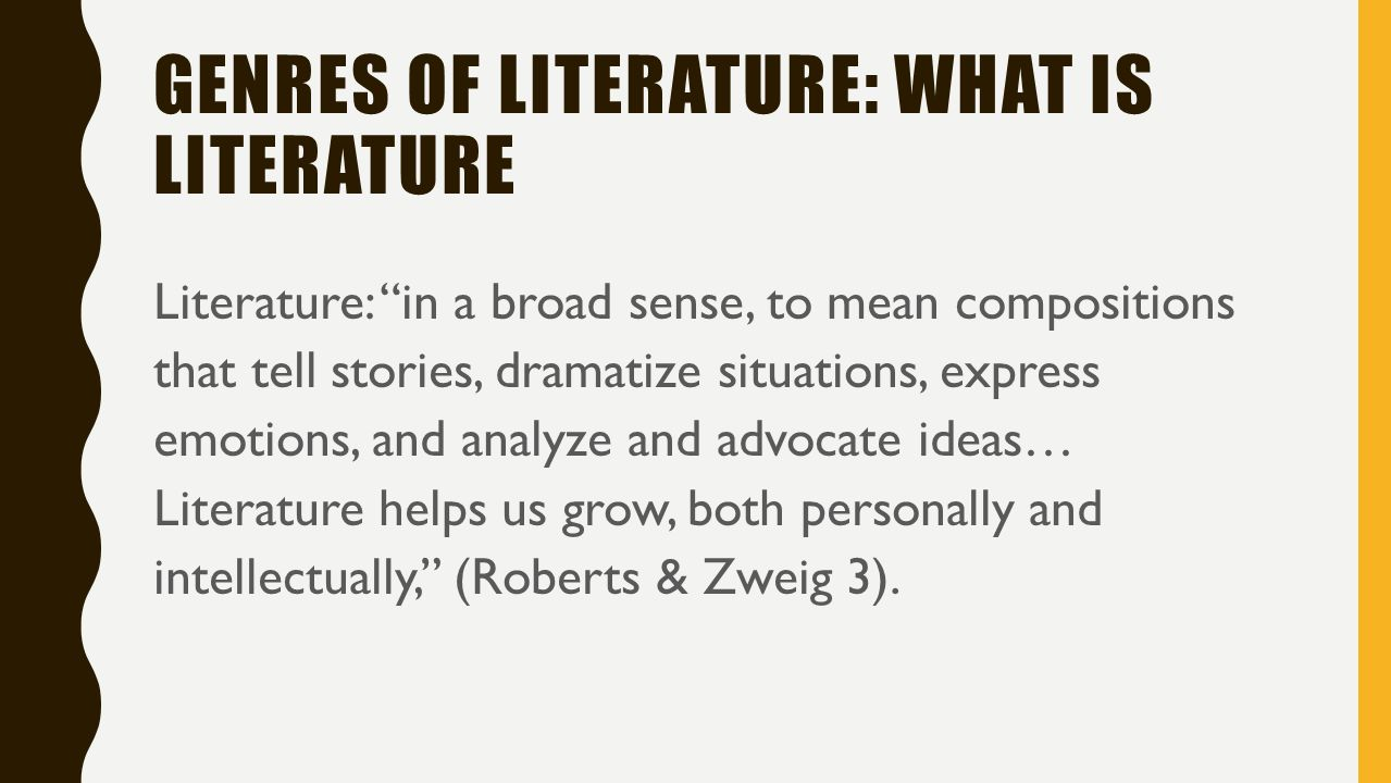 genres of literature and fiction Literary vs genre fiction some genres appeal to readers because they're different from another genre their differences are what makes them more or less.