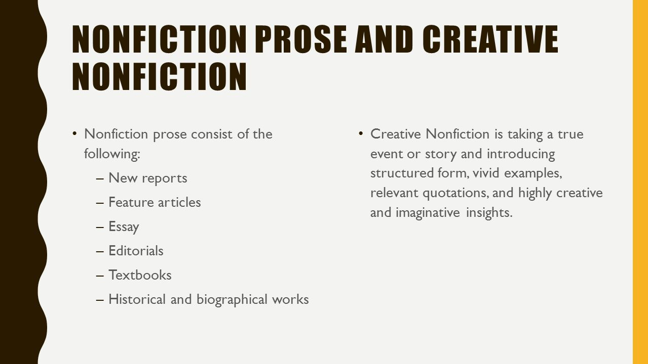 A discussion on fiction and non fiction stories