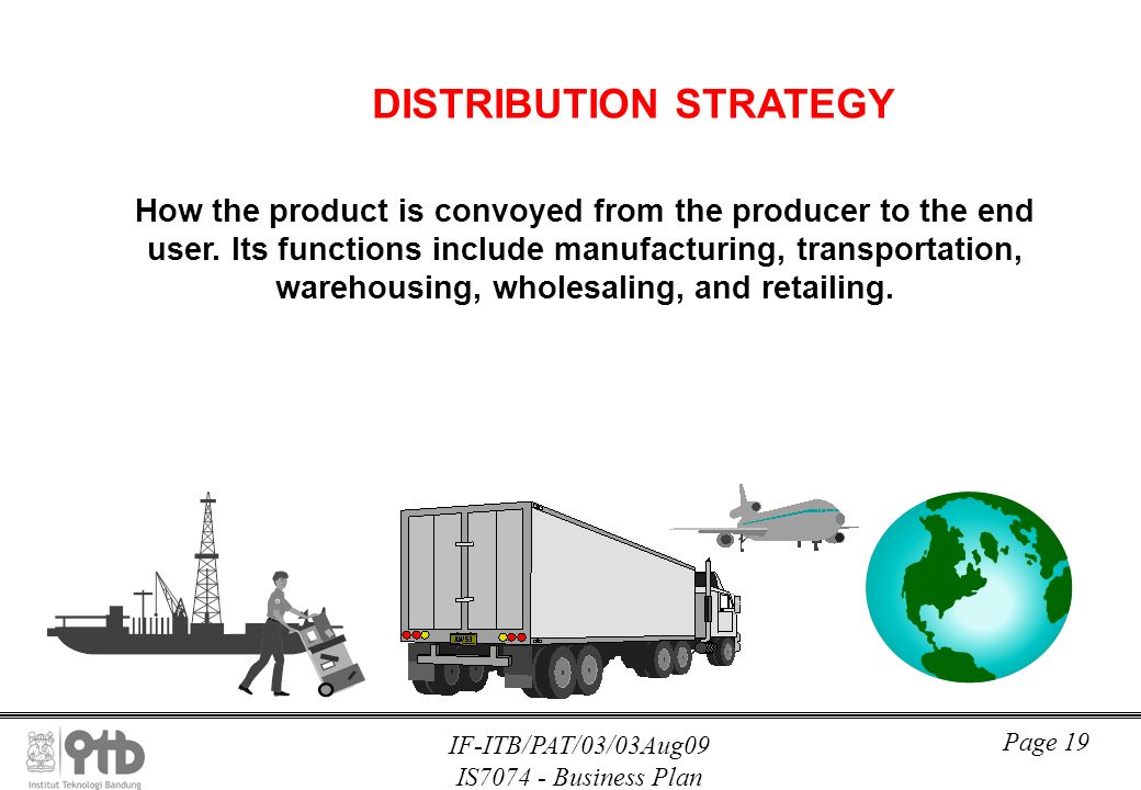 Distribution strategy business plan