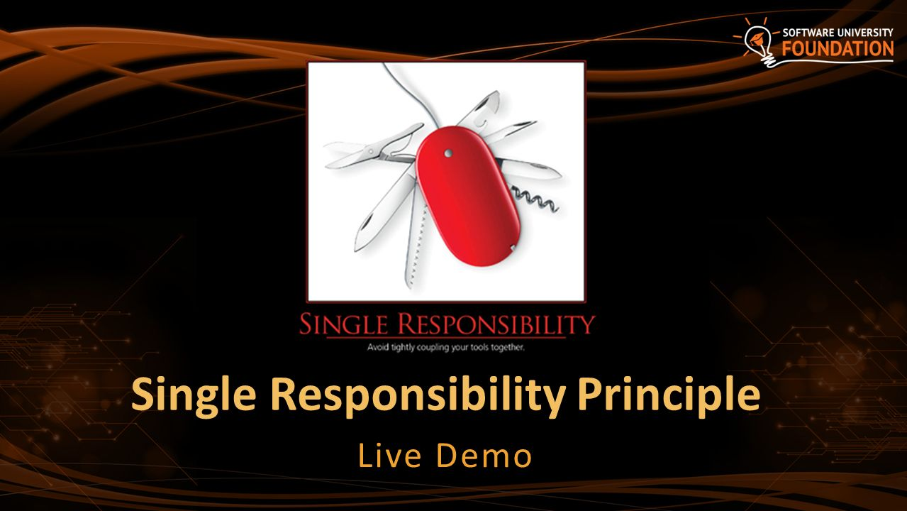 Single Responsibility Principle Design Pattern