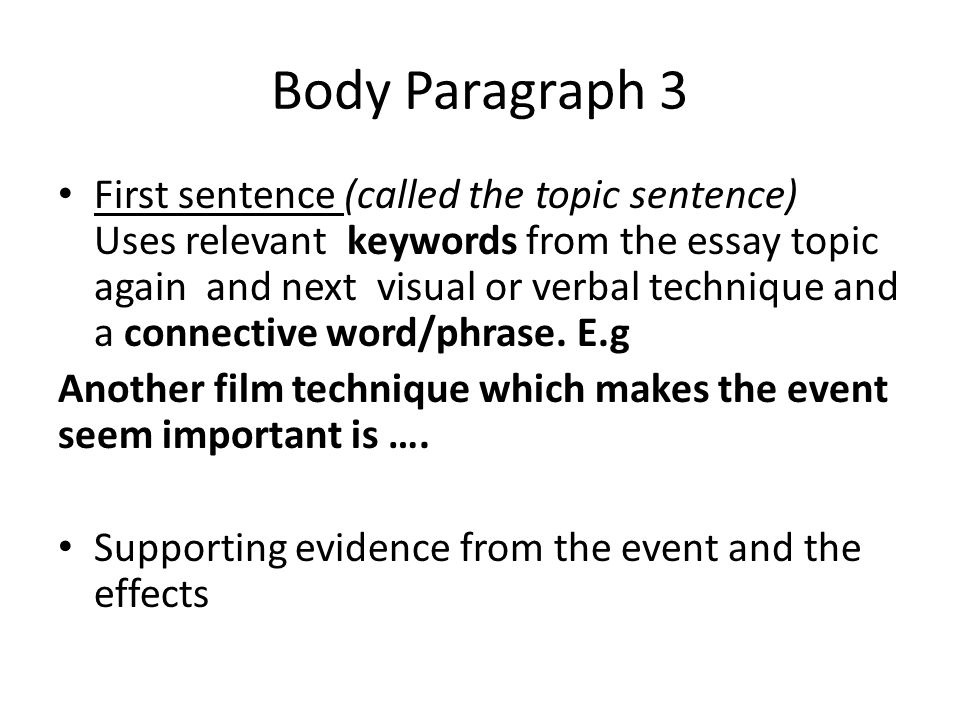 first sentence of an essay is called Online writing lab sentence length which can make an essay seem choppy keep sentence length in mind while writing your essay and try to incorporate variety.