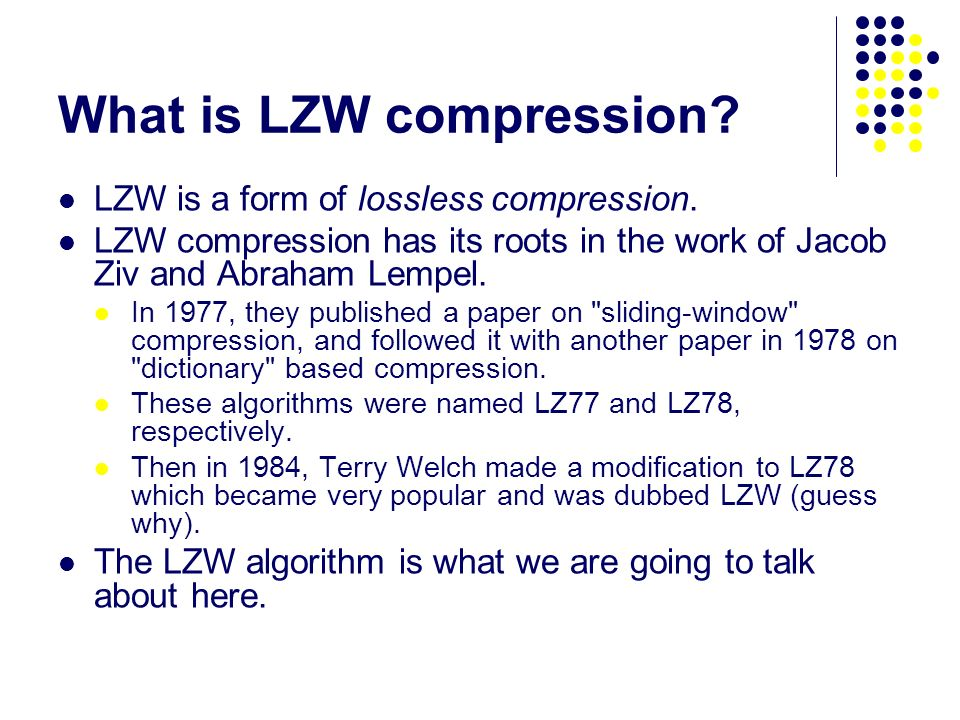 lzw compression algorithm example pdf