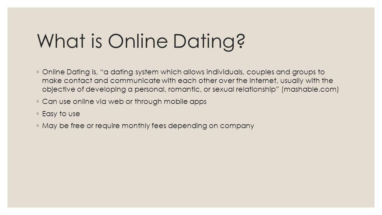 Online dating matching algorithm