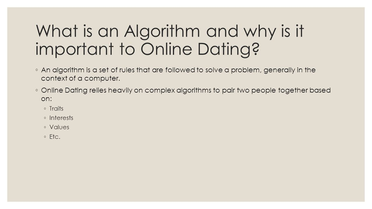 Online Dating Based On Science