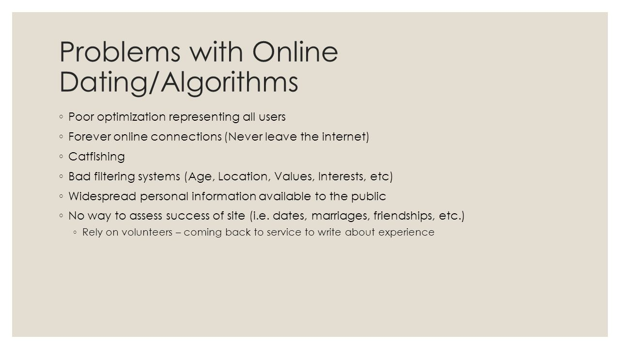 Algorithm dating sites