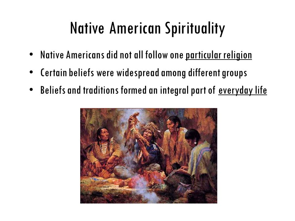 A comparison of native american and christian religious practices