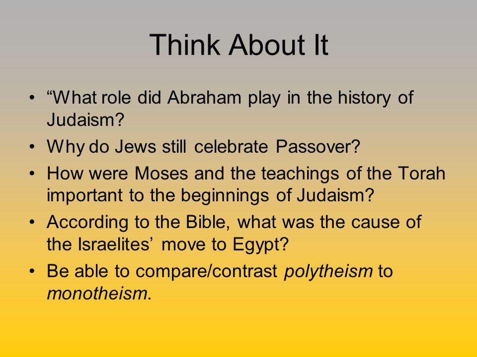 The Beginnings of Judaism - ppt video online download