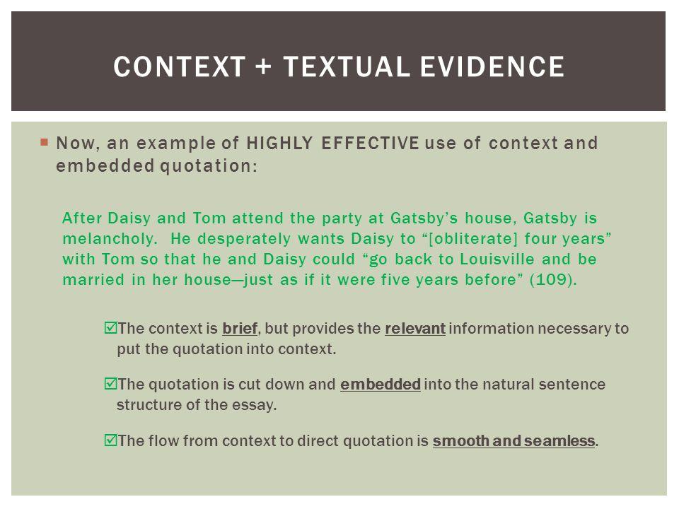 Contextual analysis essay