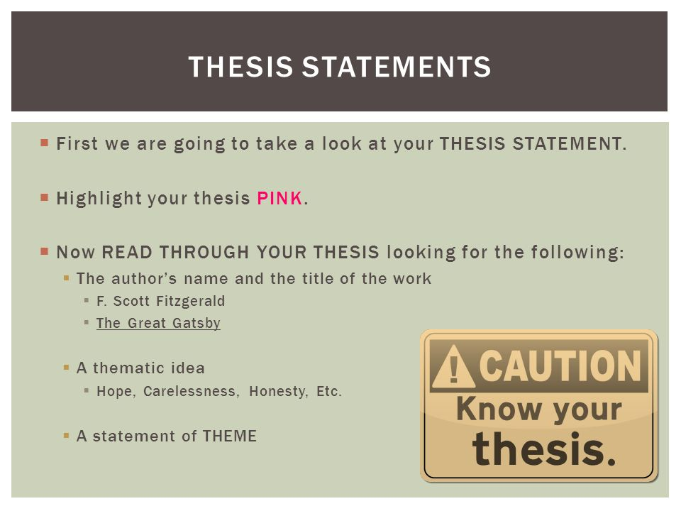theme thesis statement