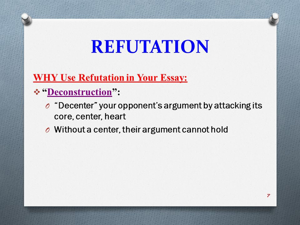 rhetorical strategies ppt refutation why use refutation in your essay deconstruction