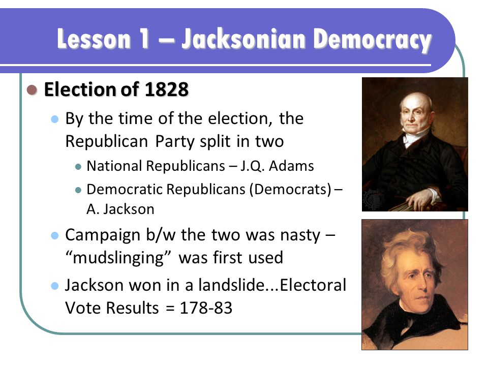 an analysis of the topic of the jacksonian democracy