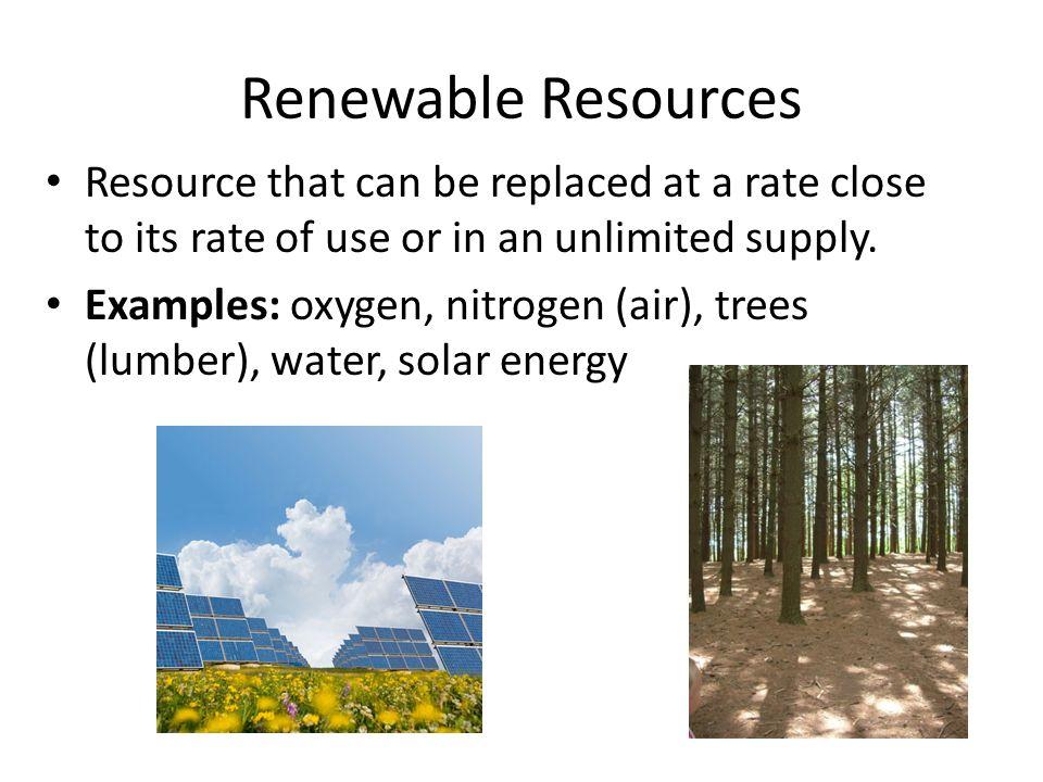Air Natural Resource Use