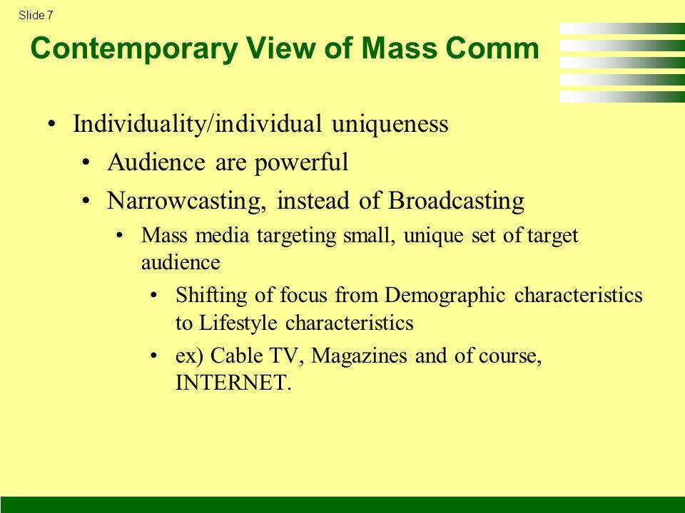 an analysis of the negative effects of mass media on contemporary society Mass society theory is a complex, multifaceted perspective as applied to social movements, however, the basic idea is that people who are socially isolated are especially vulnerable to the appeals of extremist movements.