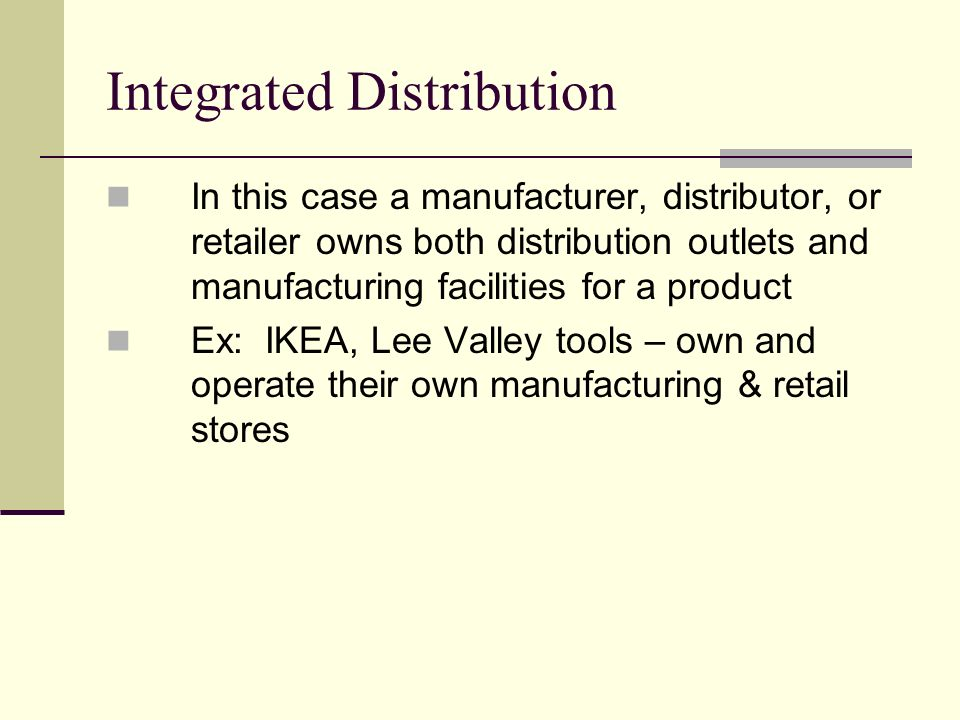 ikea distribution channel While the recent meltdown of the dot-com sector has raised concerns about internet business models in general, there is little doubt that channel power - the use of electronic distribution.