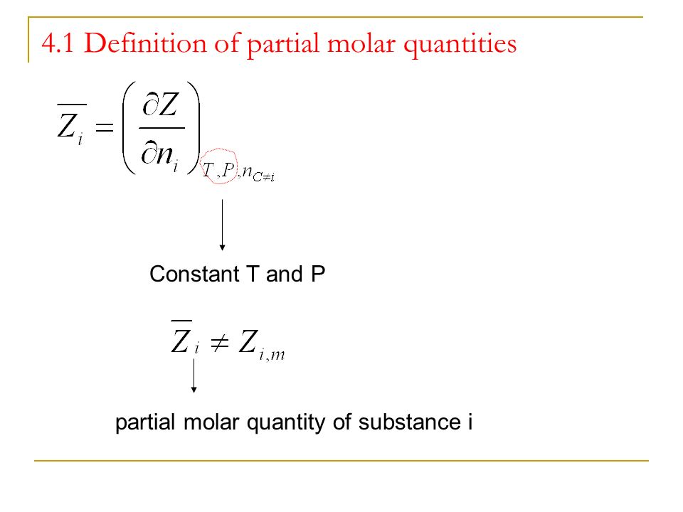 2 Partial Molar Quantities