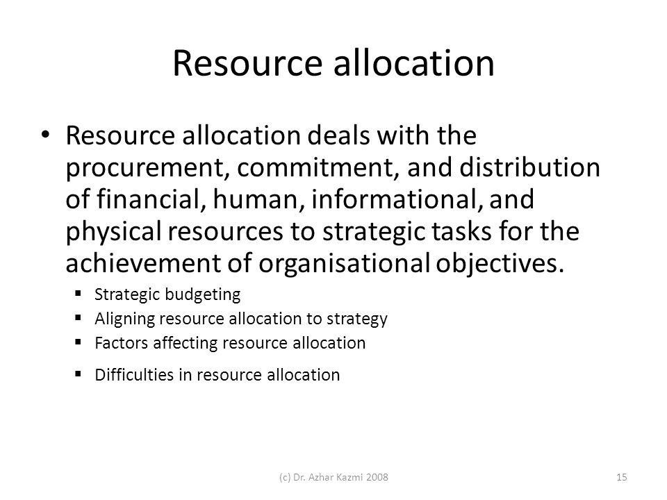 australia s economic objective resource allocation Selecting an optimal resource allocation model to consumptions in banks of iran to supply the financial resources of the projects in economic-social sectors which are their objective optimization strategies using genetic algorithms have been used by many researchers.