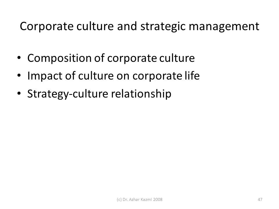 impact of organizational culture on strategic advantage 2016-4-8 the impact of total quality management practices towards competitive advantage and organizational  in the organization's culture, processes, strategic.