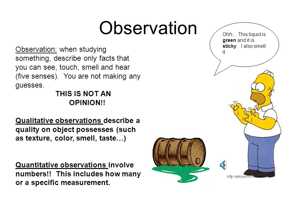 Observation vs. Inference - ppt video online download