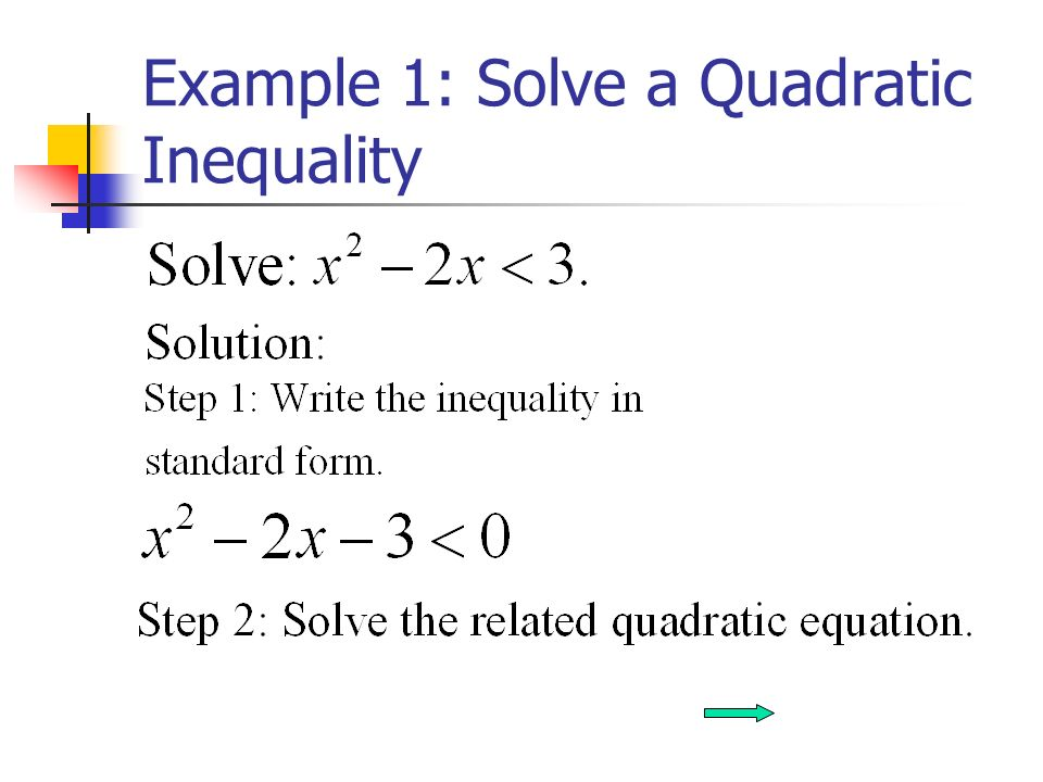 Solving A Quadratic Inequality Written In Factored Form Carnaval