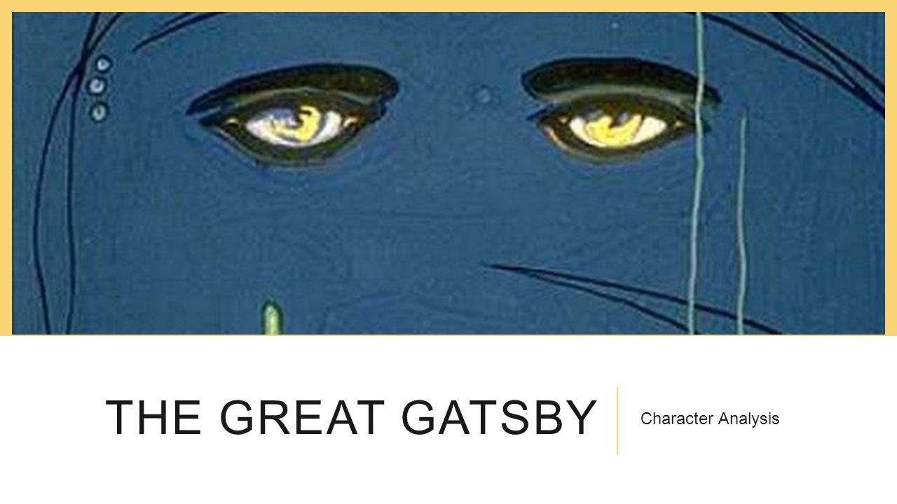 gatsby analysis The great gatsby is typically considered f scott fitzgerald.