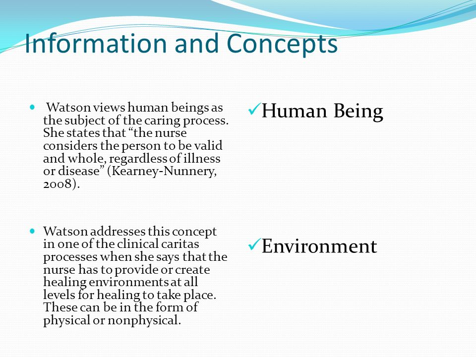 ten clinical caritas processes of jean watson A theory was born in 1975 called the theory of human caring by dr jean watson while attending ten clinical caritas 1 the other through the process.