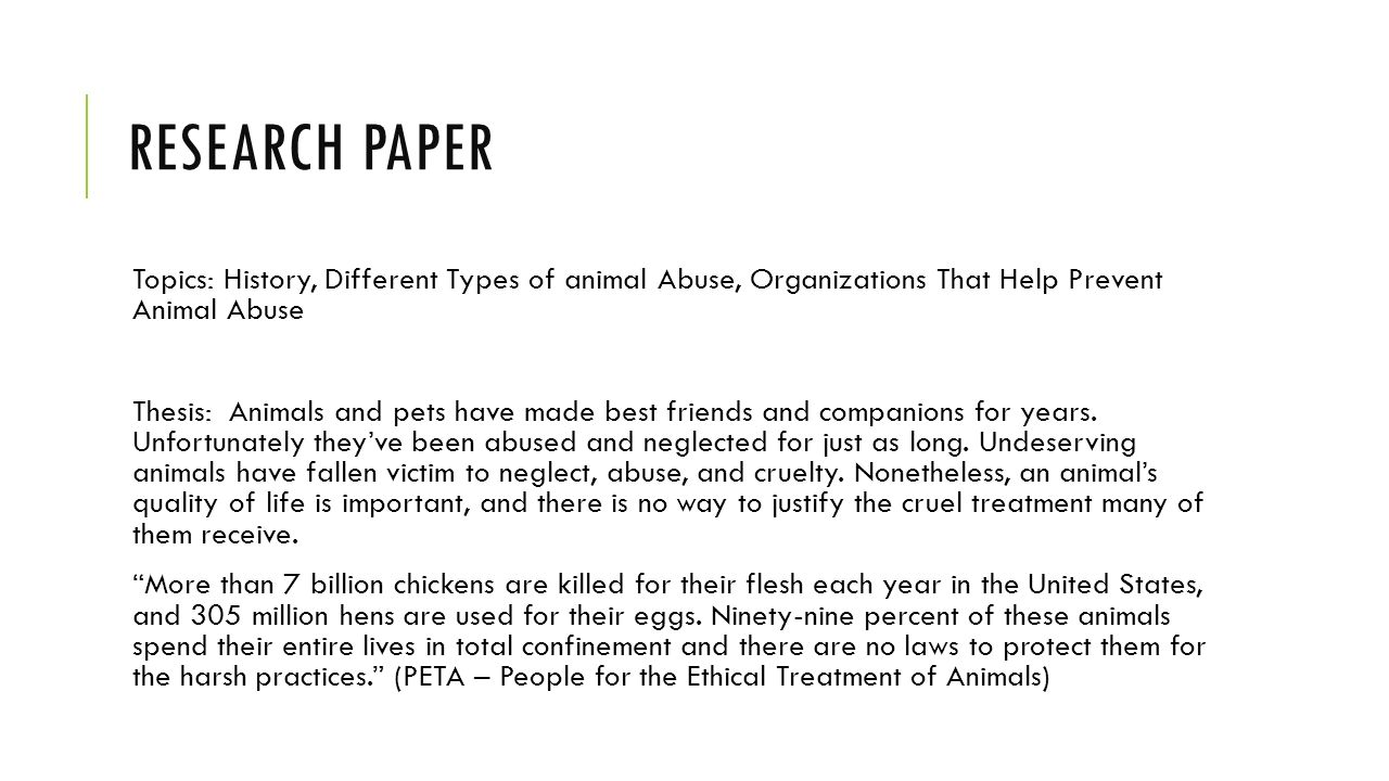 animal research thesis statement Download thesis statement on animal farm in our database or order an original thesis paper that will be written by one of our staff writers and delivered according to the deadline.