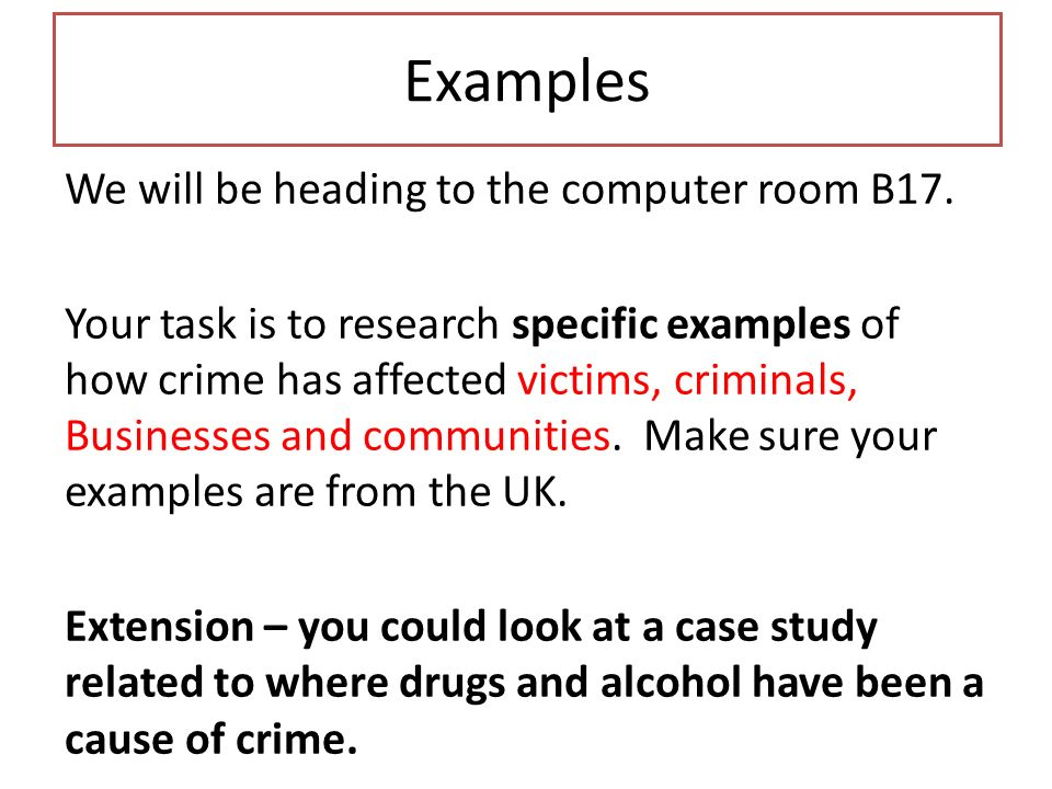 explain how there can be criminal The benefits of criminal justice data: beyond policing by data that can be used to improve our criminal justice can come of it there are examples of.