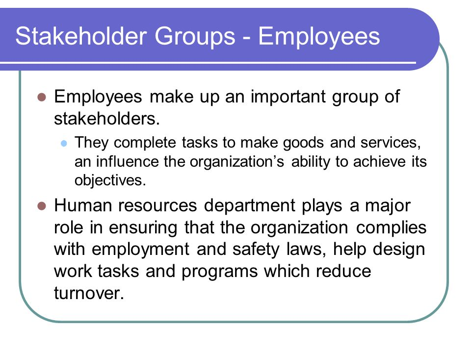 Stakeholder and cisco employees