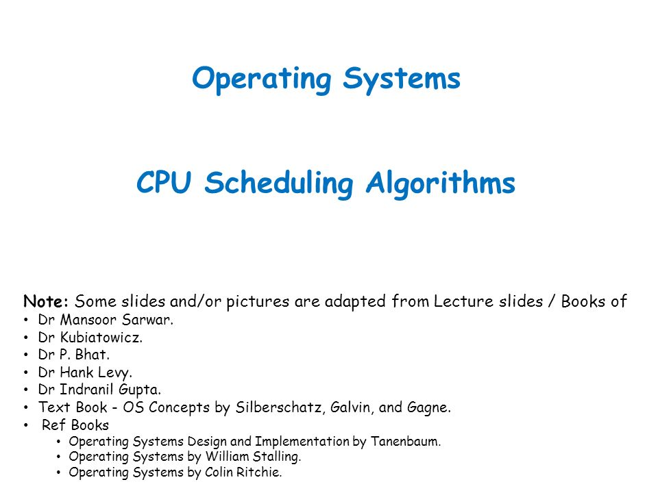 Operating Systems Cpu Scheduling Algorithms Ppt Video Online
