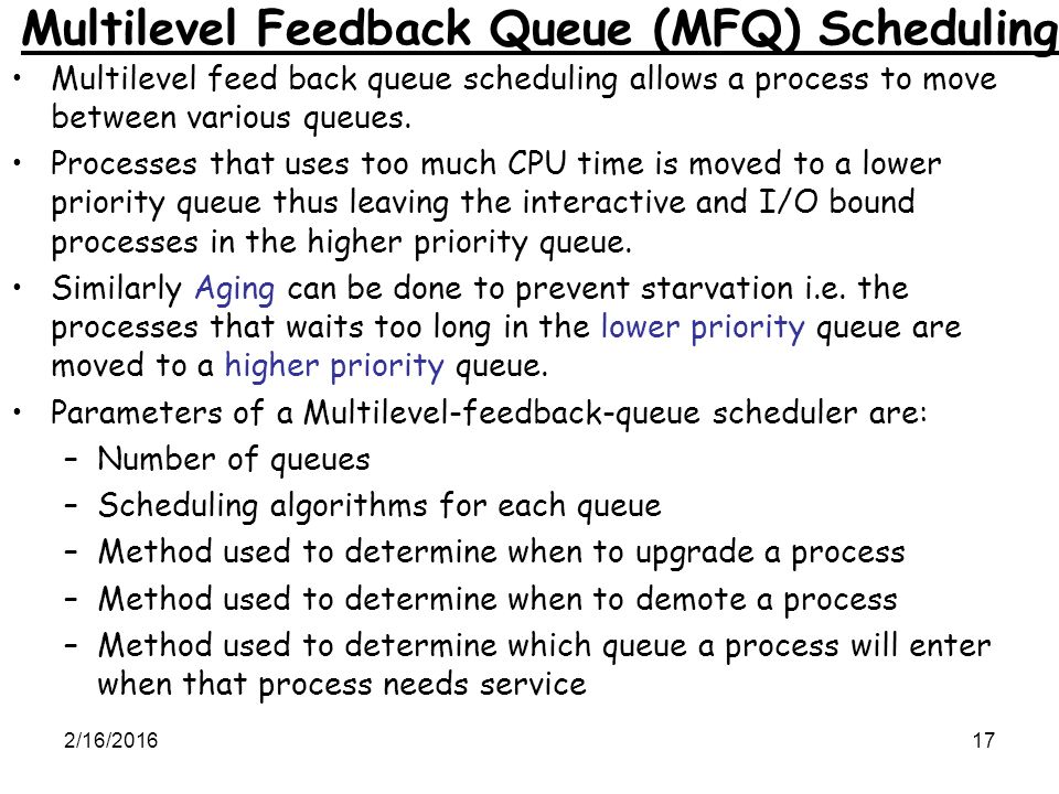 cpu scheduling algorithms in operating system with examples pdf
