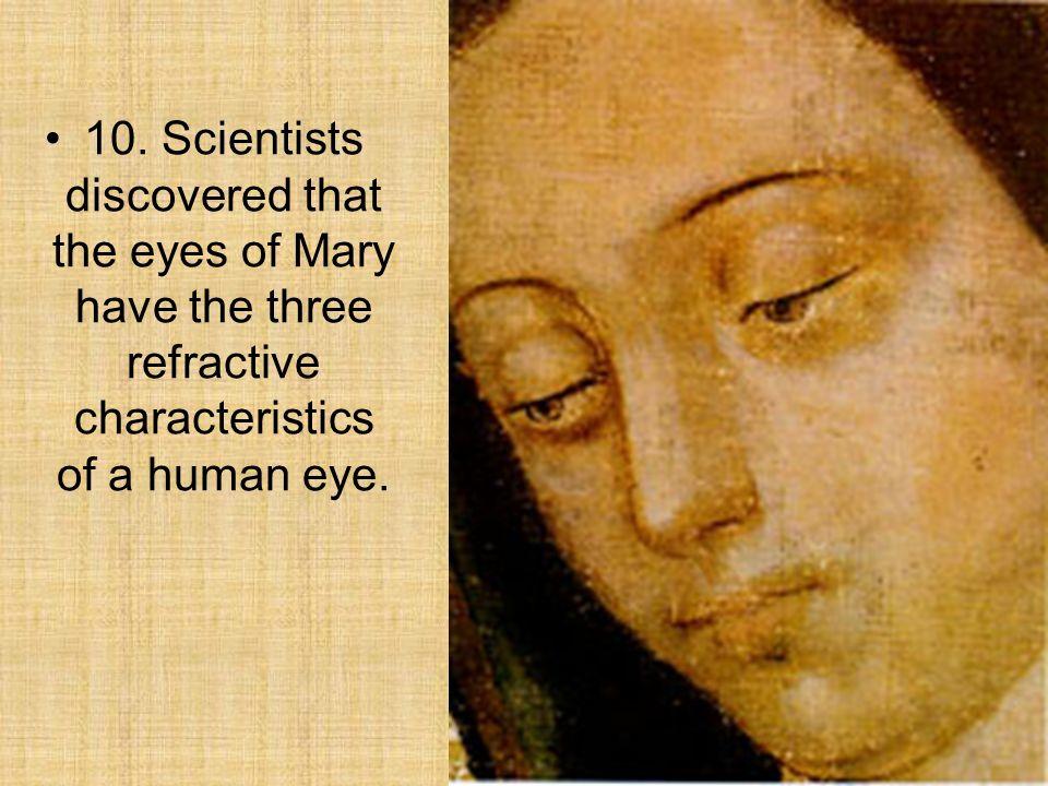 Characteristics of human eyes