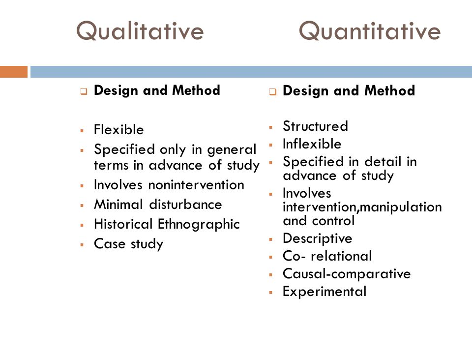 descriptive quantitative research Quantitative descriptive analysis  in quantitative research design the researcher will count and classify, and build statistical models to then explain what is.
