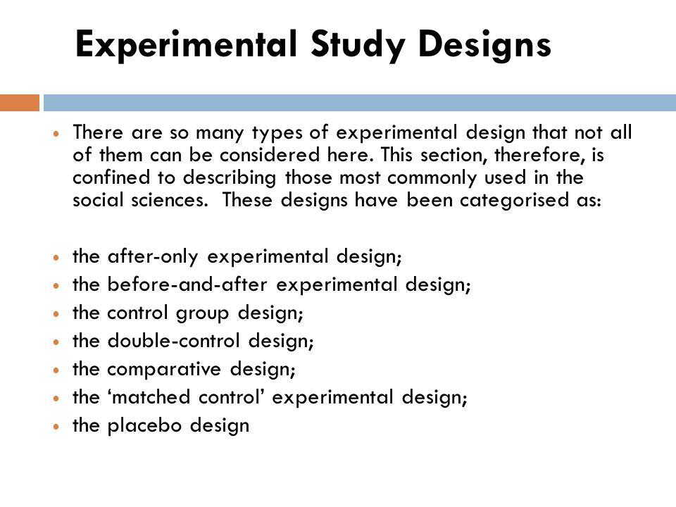 Quasi experimental longitudinal study