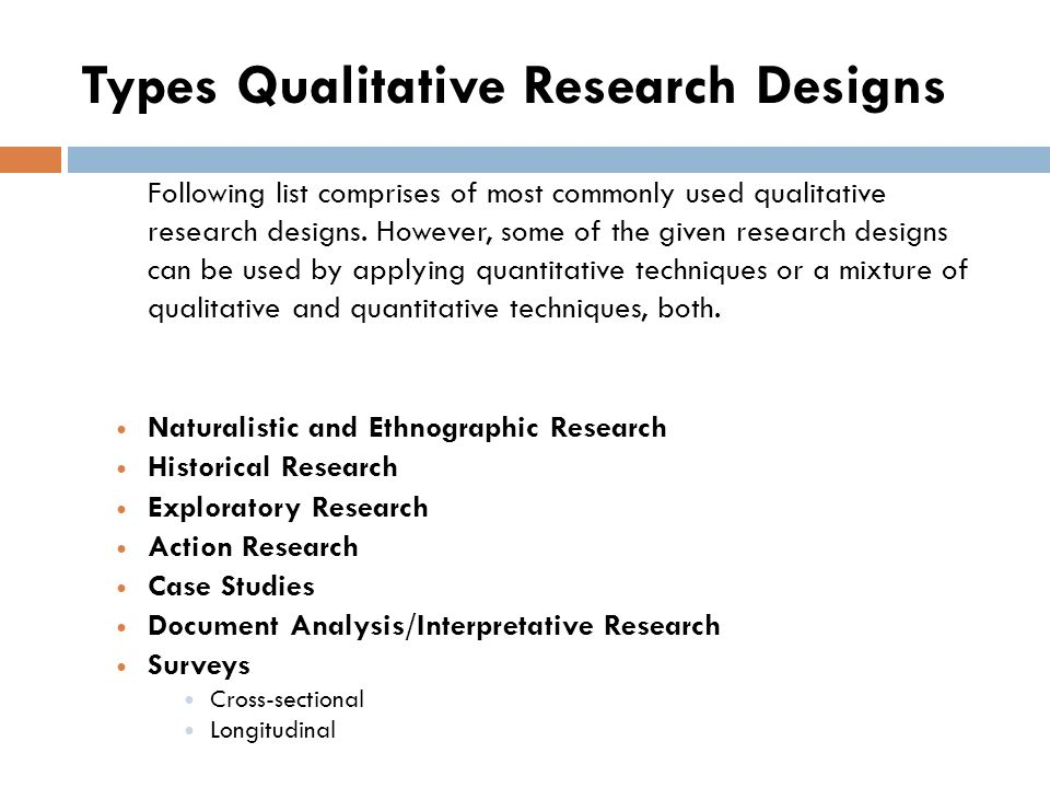 types of qualitative research studies