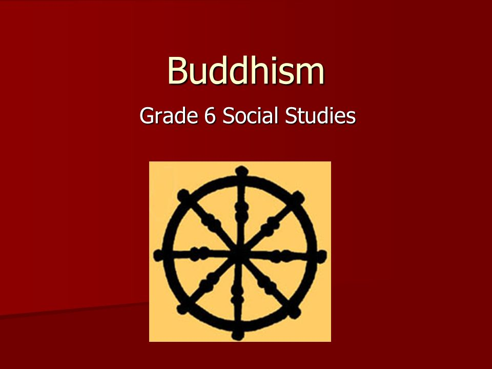 Buddhism Grade 6 Social Studies