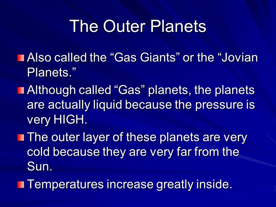 what are the gas planets called - photo #32