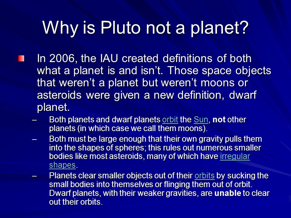 why pluto shouldnt be a planet The international astronomical union demoted pluto to a dwarf planet in 2006, and a good number of astronomers are still pretty heated about the move years later some argue that planets should be.